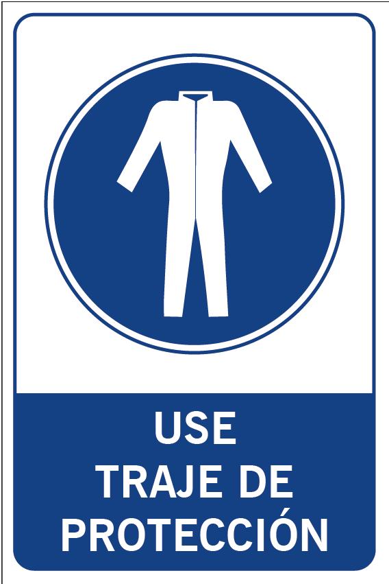 Use traje de protección