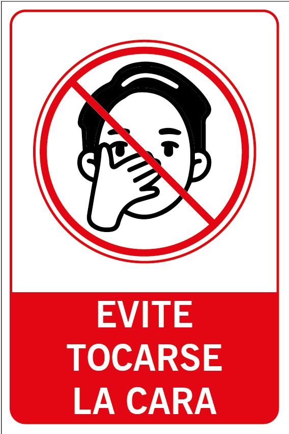 Evite tocarse la cara