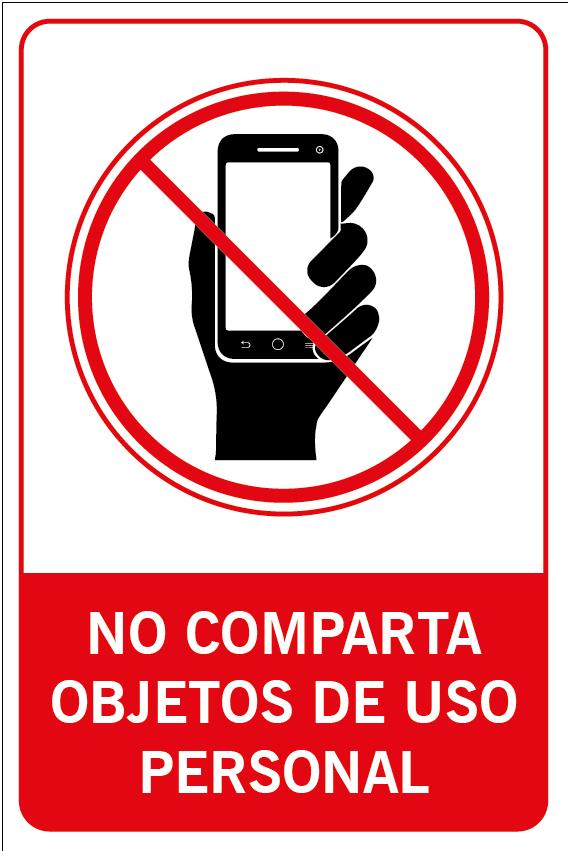 No comparta objetos de uso personal