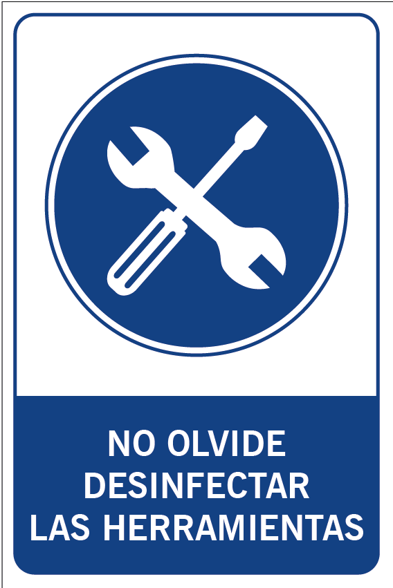 No olvide desinfectar sus herramientas
