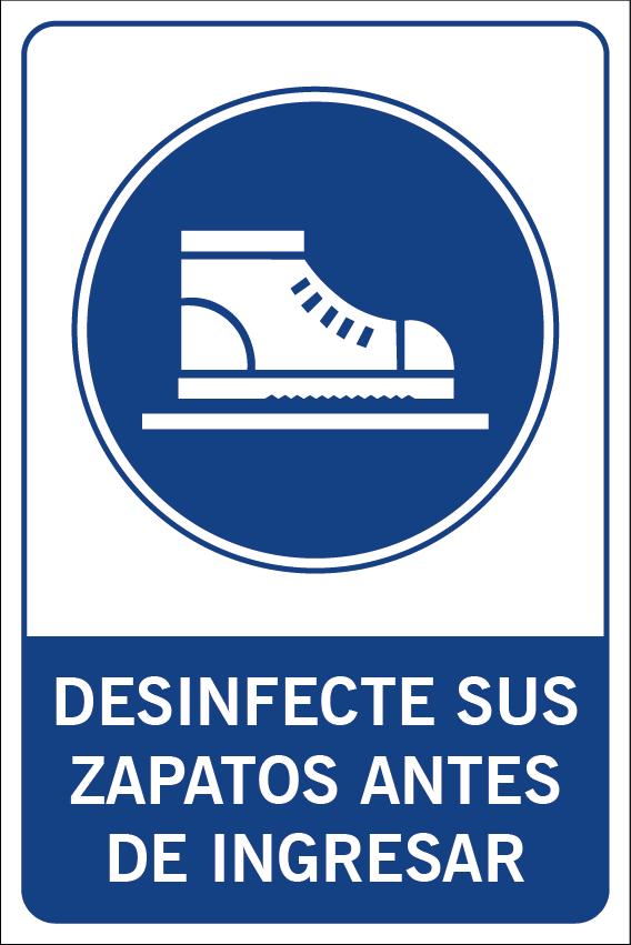 Desinfecte sus zapatos antes de ingresar