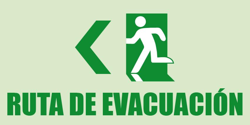 Ruta de evacuación Derecha