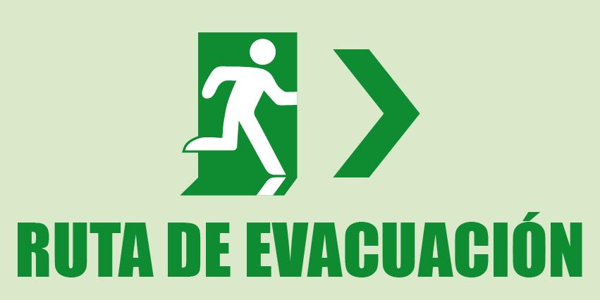 Ruta de evacuación Izquierda
