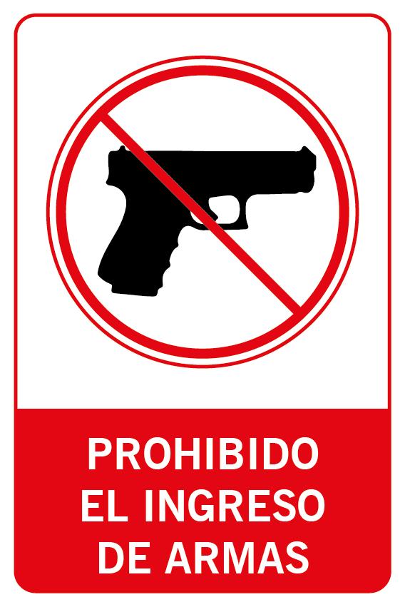 Prohibido el ingreso de armas
