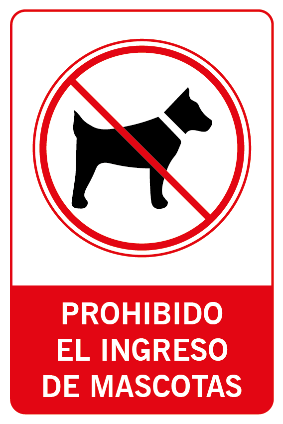 Prohibido el ingreso de mascotas