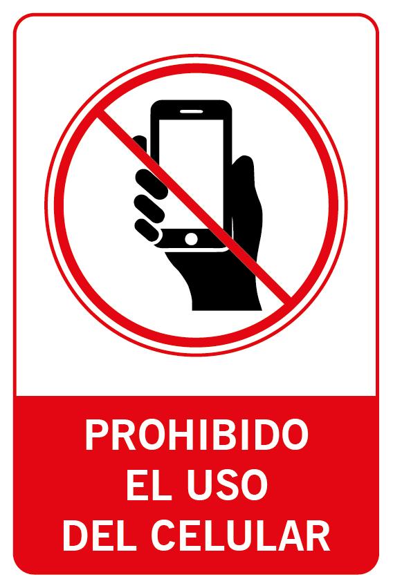 Prohibido el uso del celular