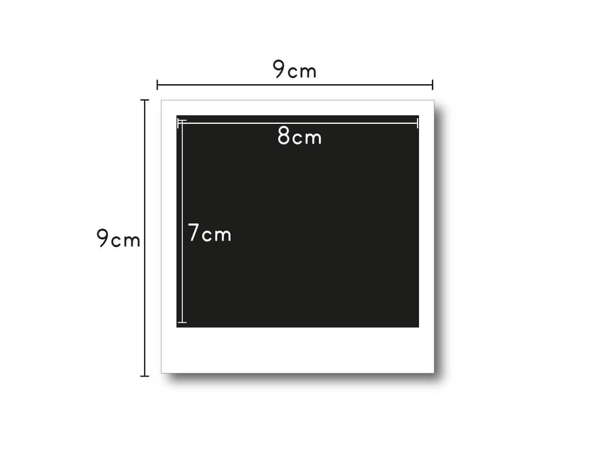 Polaroid Medidas